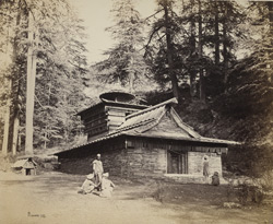 Temple near waterfall, Simla.